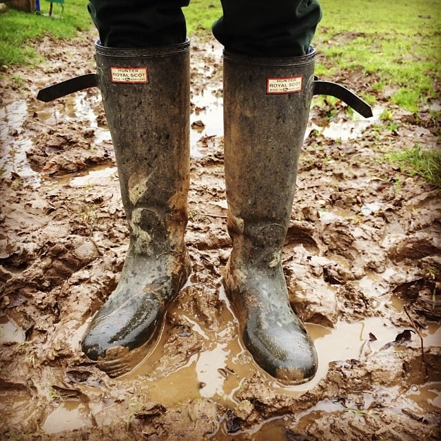 Nicky Hilton wasn't afraid to get dirty for Christmas weekend.  Source: Instagram user nickyhilton
