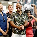 Pictured: Jai Courtney and Will Smith