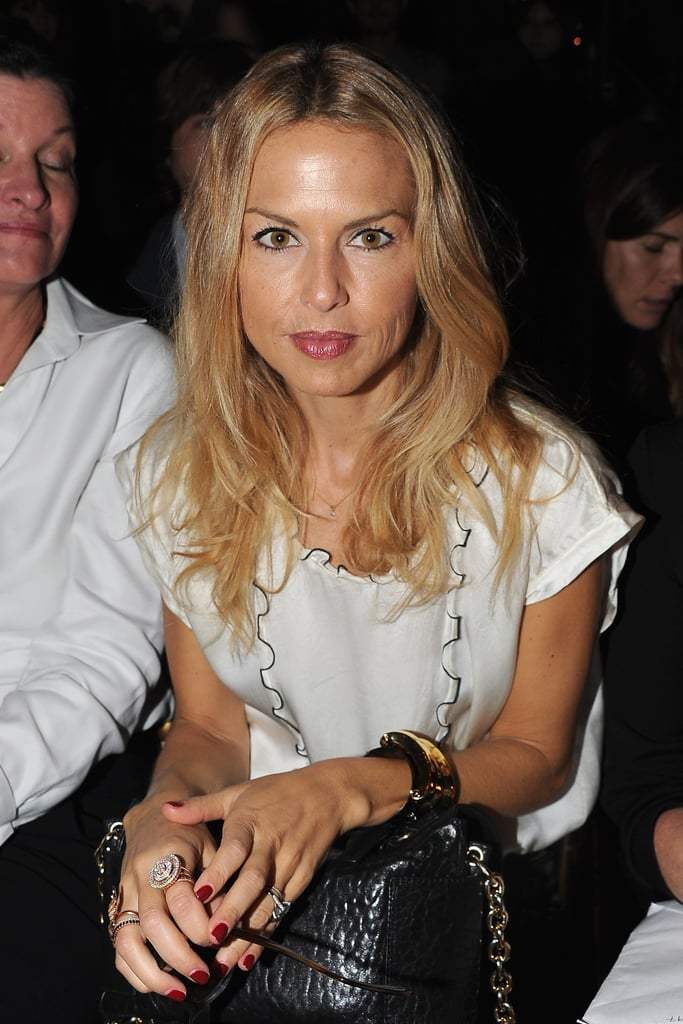 Rachel Zoe was front row at Balmain.