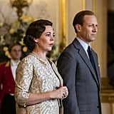Olivia Colman and Tobias Menzies as Queen Elizabeth II and Prince Philip