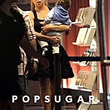 Mariah Carey visited a bookstore in the Nice airport with son Moroccan Cannon.