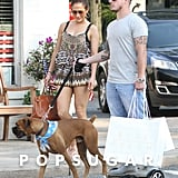 Jennifer Lopez and Casper Smart in the Hamptons