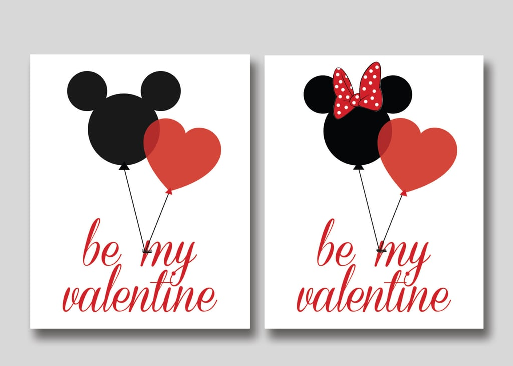 Mickey and Minnie Mouse Valentines