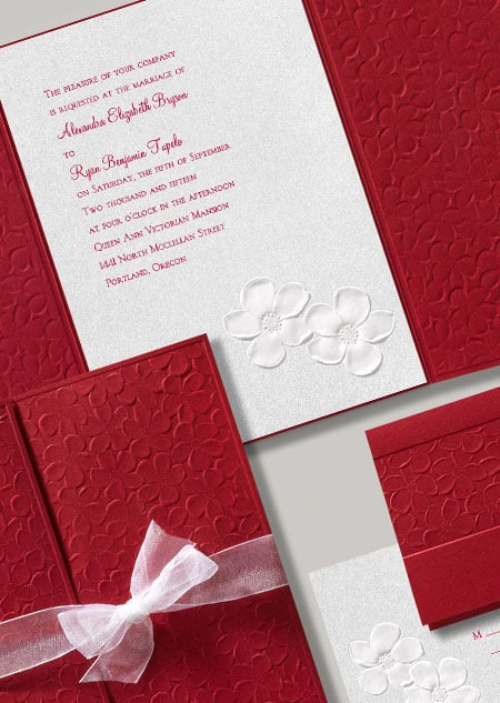 """""""Apple Blossoms"""" make for a bright, pretty theme with this Snow White stationery."""