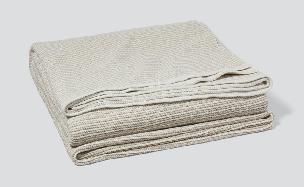 Casper Striped Cotton Throw Blanket