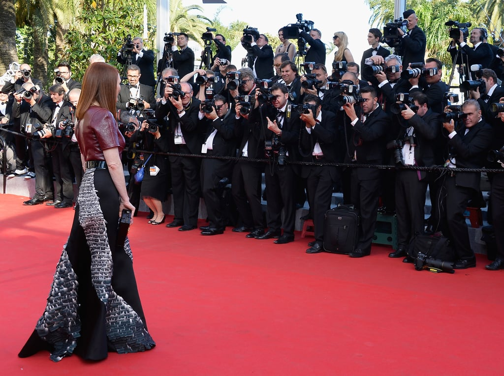 Julianne Moore captured the attention of photographers at the premiere of Mr. Turner.