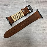 Monogrammed Vintage Leather Watch Band