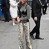 Tommy Hilfiger x Zendaya Snake Print Leather Trousers