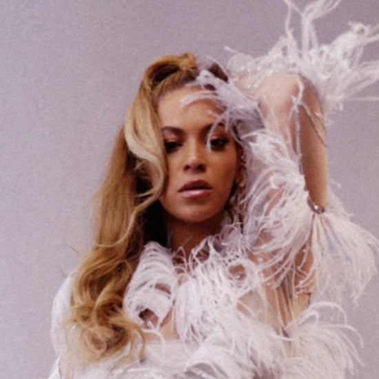 Beyonce Wearing Feather Dress