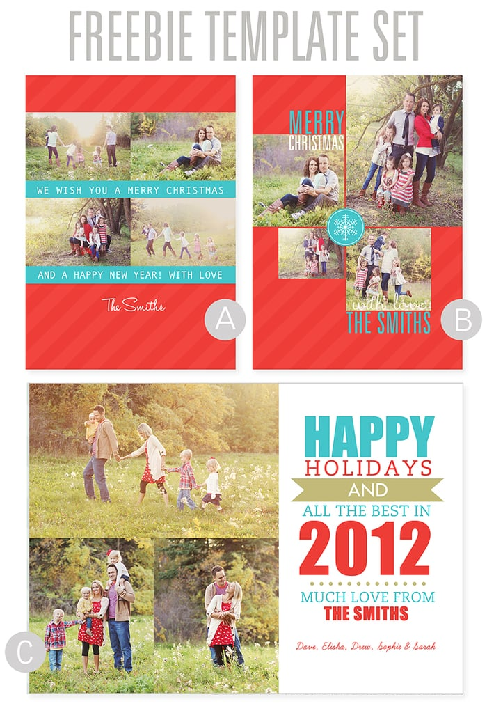 Personalized Photo Christmas Cards | Free Printable ...