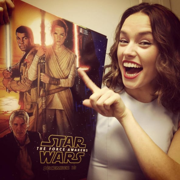 """Excuse my teeth but ERMAGERD how cool is this poster!!! #D23EXPO #starwars #theforceawakens"""