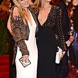 Sienna Miller met up with model Cara Delevingne.
