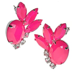 Abstract Neon Flower Studs $20 @ Topshop