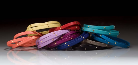 Gorjana Leather Colorful Studded Wrap Bracelets