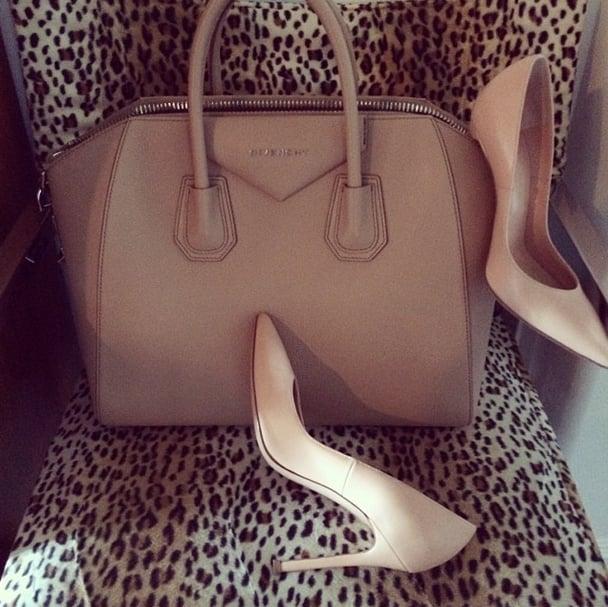 These beige accessories are anything but boring. Source: Instagram user kourtneykardash