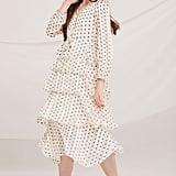 Storets Aisha Polka Dot Tiered Ruffle Dress