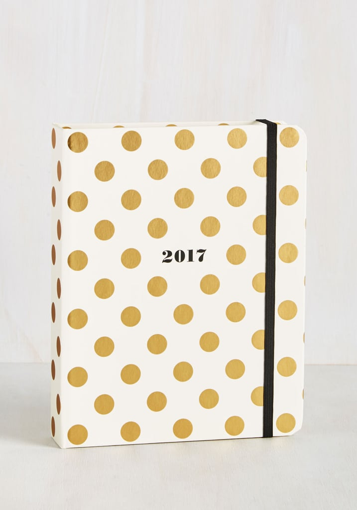 Cheer After Year 2017 Planner in Gold Dots ($30)