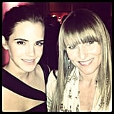 Teen Vogue editor-in-chief Amy Astley posed with Emma Watson during the event. Source: Instagram user amytastley