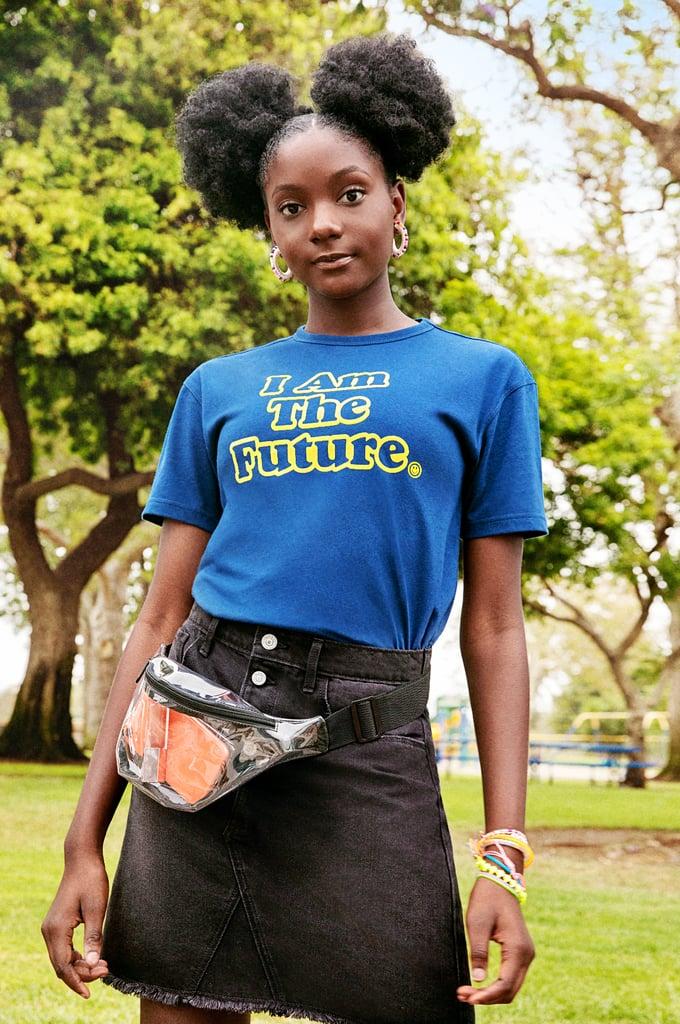 How Kheris Wears Her POPSUGAR x Old Navy Clear Vinyl Fanny Pack in Black