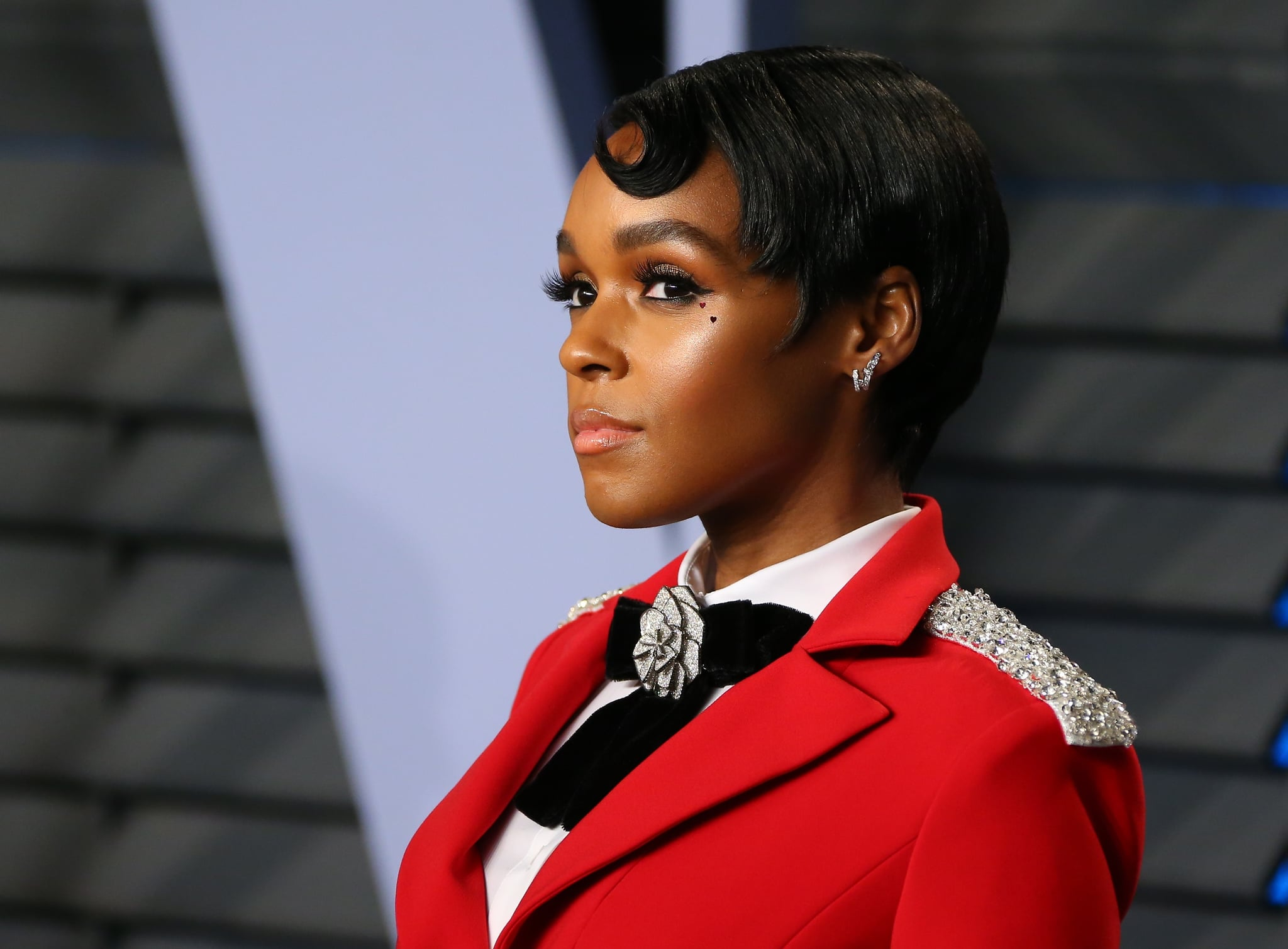 Janelle Monae attends the 2018 Vanity Fair Oscar Party following the 90th Academy Awards at The Wallis Annenberg Center for the Performing Arts in Beverly Hills, California, on March 4, 2018.  / AFP PHOTO / JEAN-BAPTISTE LACROIX        (Photo credit should read JEAN-BAPTISTE LACROIX/AFP/Getty Images)