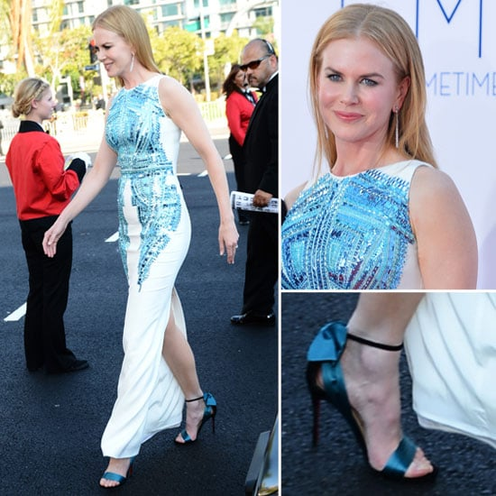Pictures of Nicole Kidman in Antonio Berardi dress on the red carpet at the 2012 Emmy Awards