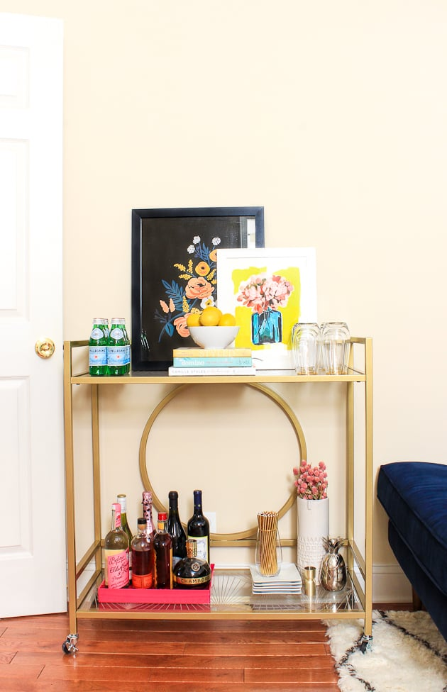 A Bar Cart Design Influencers Living Room Style