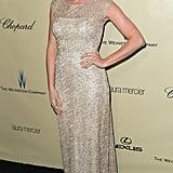 Brittany Snow stopped by the Weinstein party Sunday night.