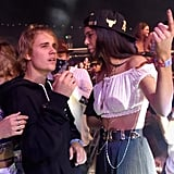 Kendall and Justin watched a show from the front.