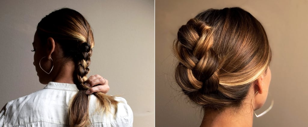 Easy French-Braid Ponytail Tuck | How-to Tutorial Photos