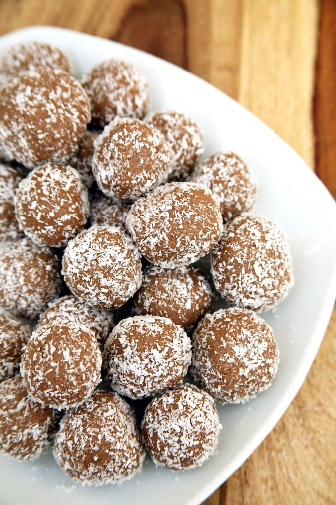 Coconut-Covered Chocolate Protein Balls