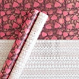 Minted Patterned Gift Wrap Magenta/White