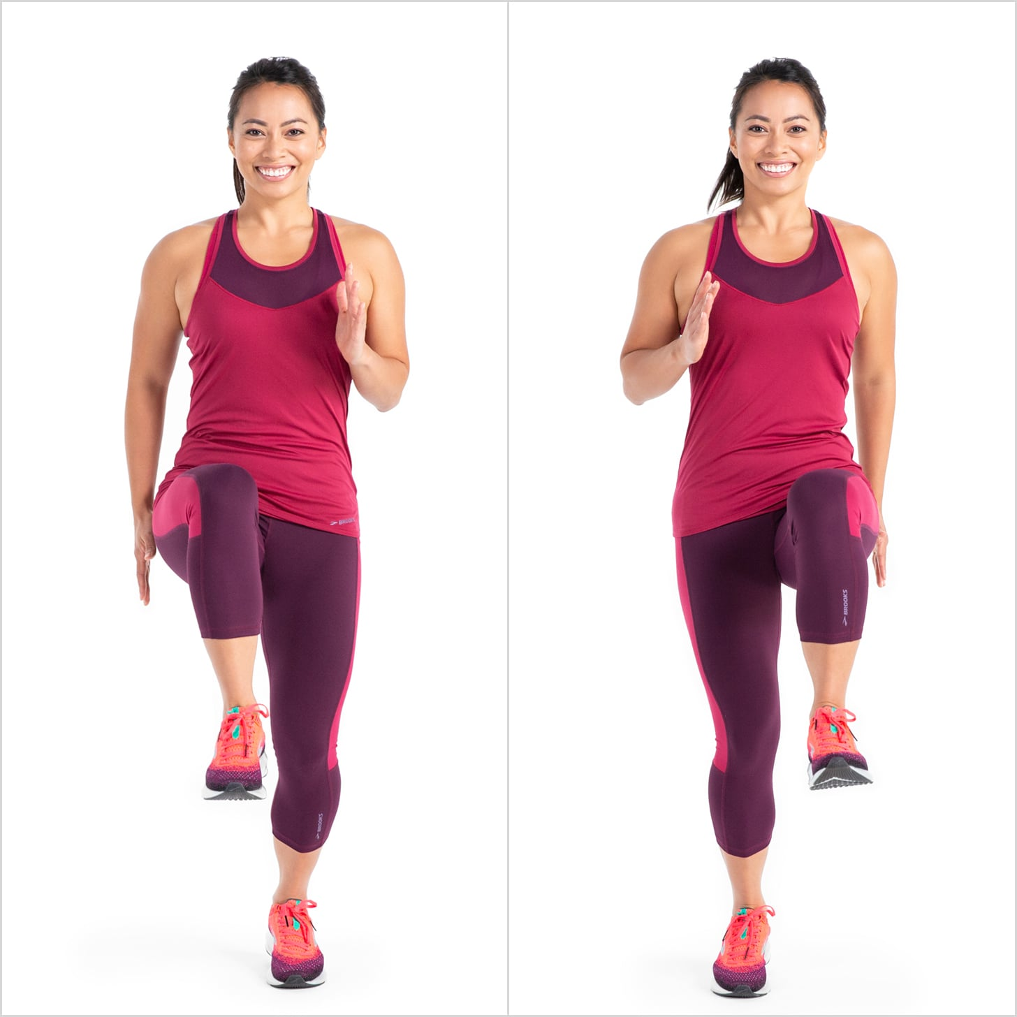 High Knee Run | Carve Your Core With 10 Minutes of Cardio ...