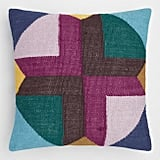 Multicolored Geometric Maya Indoor Outdoor Throw Pillow