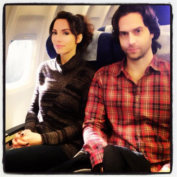 Whitney Cummings and Chris D'Elia enjoyed each other's company on a flight. Source: Instagram user therealwhitney