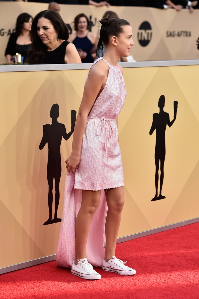 Millie Bobbie Brown Converse Sneakers 2018 Sag Awards