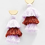 Madewell Tri Tassel Statement Earrings