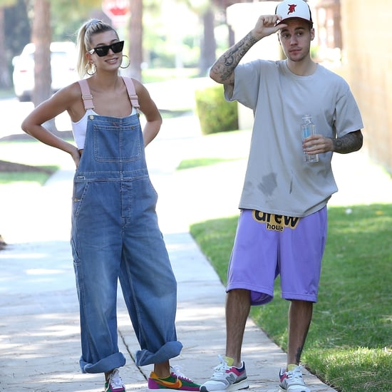 Hailey Baldwin and Justin Bieber Rainbow Sneakers