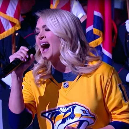 Carrie Underwood's Son Reacts to Her Singing National Anthem