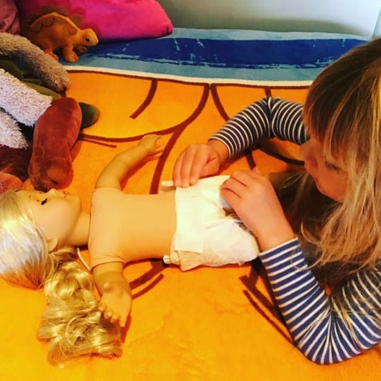 Pink's Daughter Practicing Diaper Duty Instagram 2016