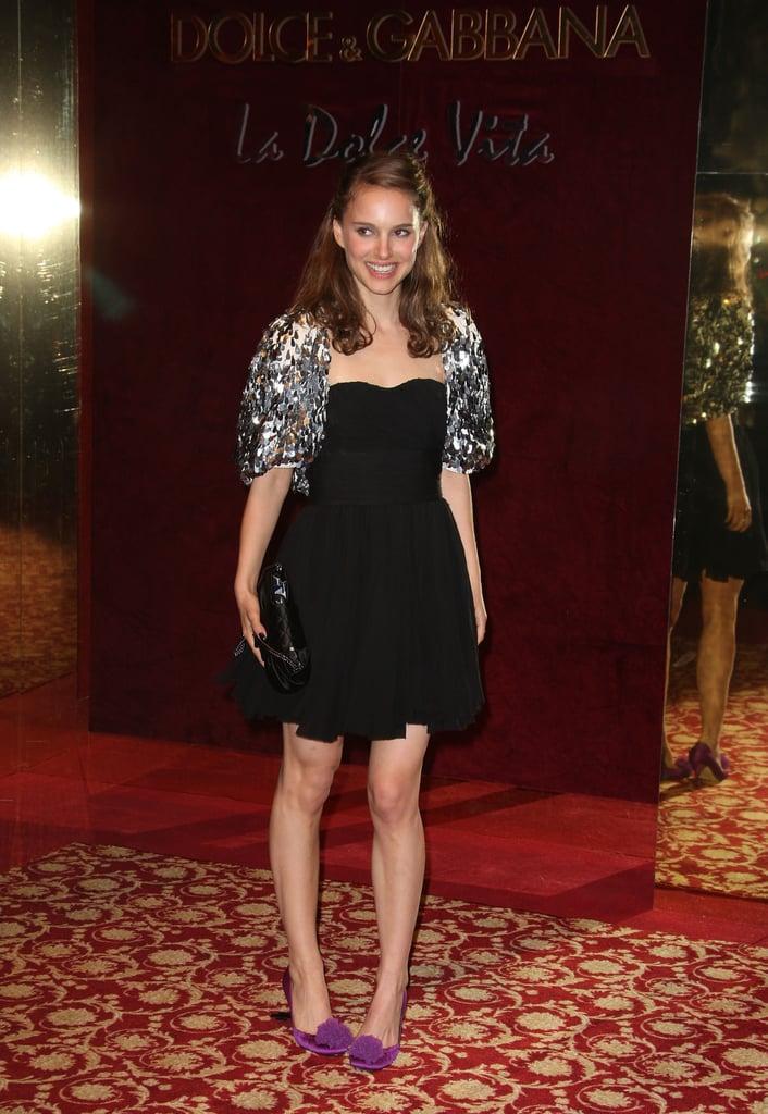 Natalie Portman in an Embellished Shrug at the 2008 Cannes Film Festival