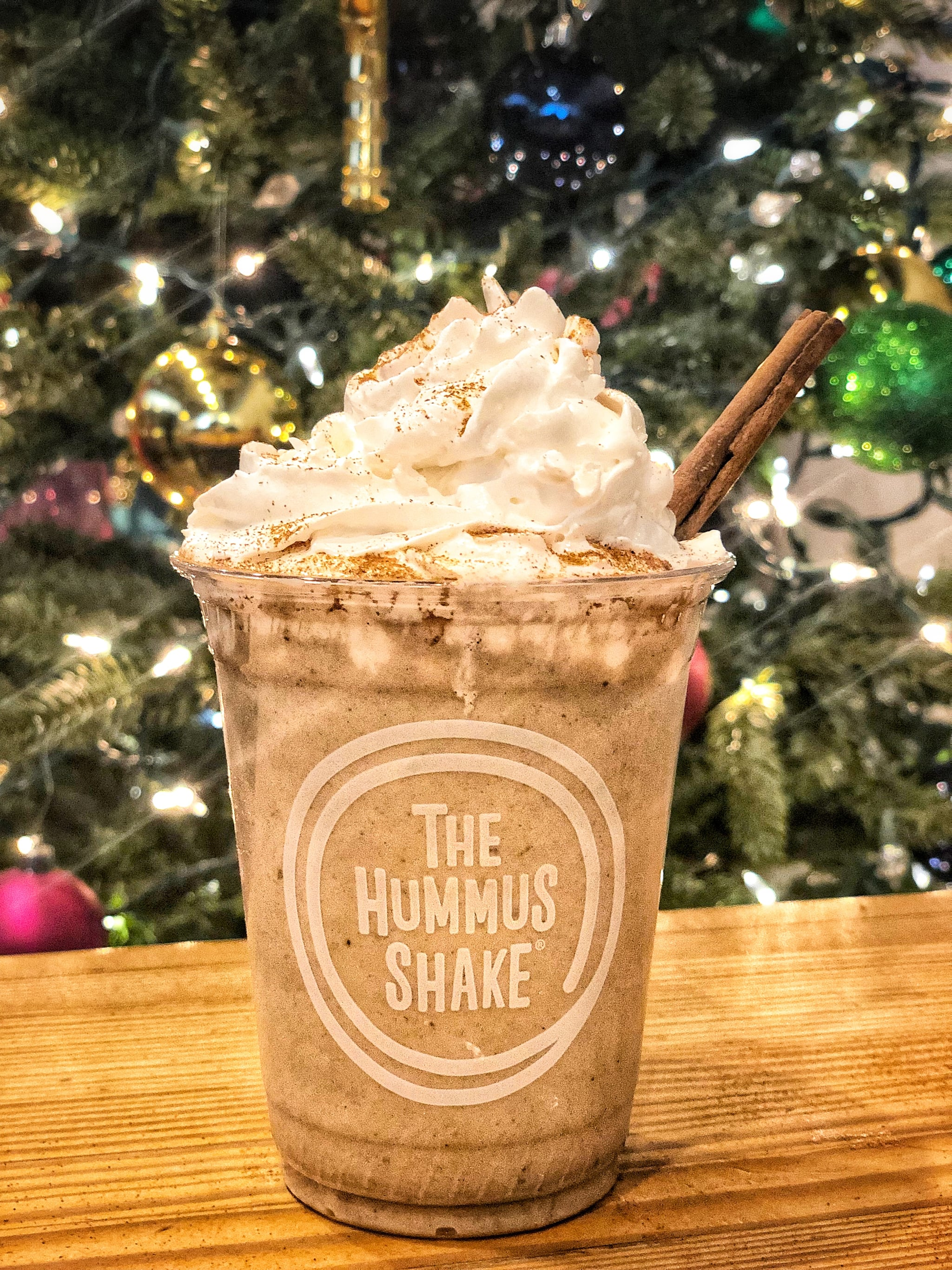 Eggnog Hummus Shakes Are Here For the Holidays, and Santa's Very Confused