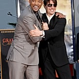 Will Smith had the support of his friend Tom Cruise when he got a star on the Hollywood Walk of Fame in December 2007.