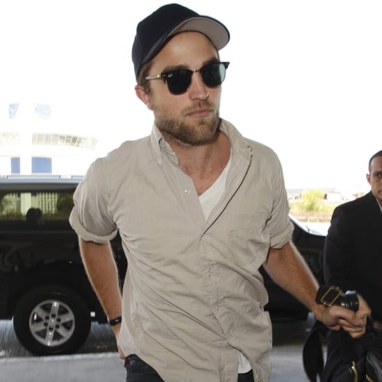 Robert Pattinson Wearing Sunglasses at LAX Pictures
