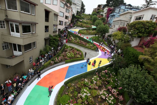 Lombard Street Turns Into Candyland Board