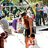 Beyoncé Knowles shared a picture of her afternoon at a playground with her daughter, Blue Ivy. Source: Tumblr user Beyoncé