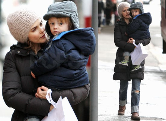 Photos of Keri Russell With Her Son River Deary Walking in NYC