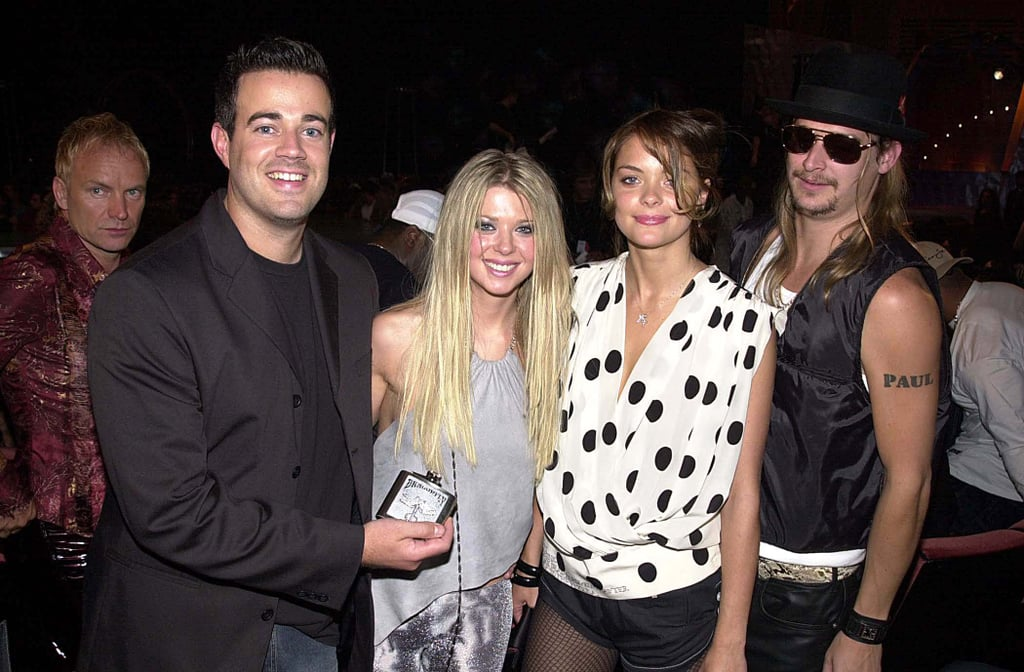 Carson Daly, Tara Reid, Jaime King, and Kid Rock, 2000