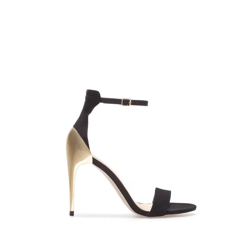 Hard to believe this sleek Zara sandal ($50) rings in under $100 . . . but it does.