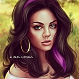 Celebrity Princess: Mila Kunis as Esmeralda