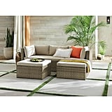 Hampton Bay Valley Peak 3-Piece All-Weather Gray Wicker Sectional Outdoor Patio Set